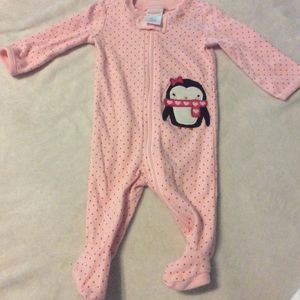Newborn Gymboree pink footies